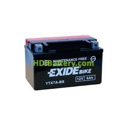 Batería AGM Exide moto YTX7A-BS 12V. 6Ah